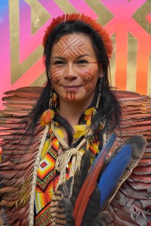 Militante amérindienne